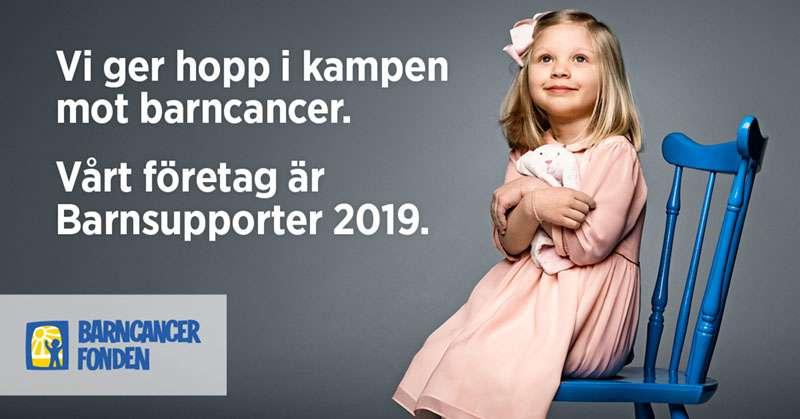 Barncancerfonden Barnsupporter 2019